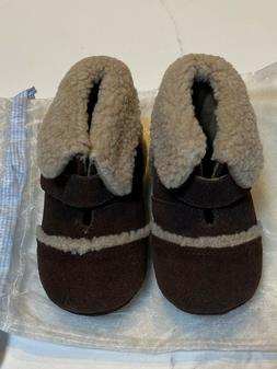 New Janie and Jack Brown Leather Crib Shoes Boots Baby Boy S
