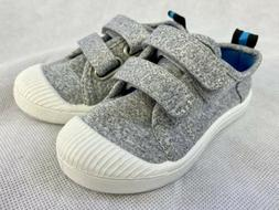 NEW Cat & Jack Gil Gray Sneakers Casual Toddler Boys Hook &