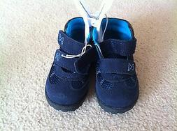New Children's Place Toddler Baby Boy Shoes Size 4 Black Blu