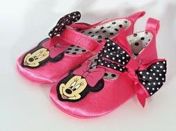 """New Disney Infant Girls """"Minnie Mouse"""" Crib Shoes Halloween"""