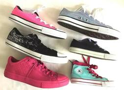 New Converse All Star Textile Lace-Up Girls' Sneakers Shoes-