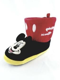New Toddler Mickey Mouse Boot Slippers size 7-8 Disney Boys