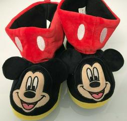 New Toddler Mickey Mouse Boot Slippers size 7-10 Disney Boys