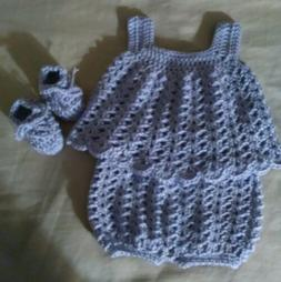 Newborn baby clothes top & shorts bloomers shoes Lot great b