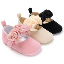Newborn Baby Infant Girl Crib Shoes Soft Sole Prewalkers Ant
