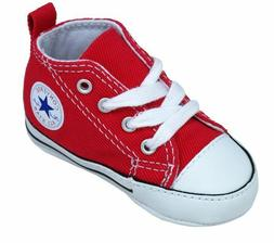 CONVERSE NEWBORN CRIB BOOTIES RED 88875 FIRST ALL STAR BABY