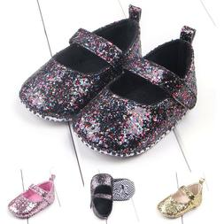 Newborn Infant Baby Girls Princess Dance Glitter Sequin Blin