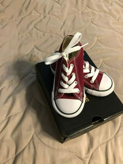 NIB Converse Shoes Chucks Infants Babies Toddlers Red Canvas