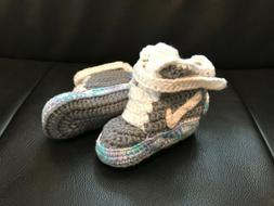 Nike MAG Back to the Future baby crochet shoes handmade