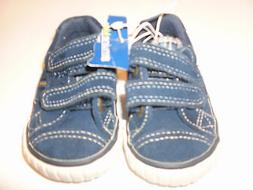 OSH KOSH leather BLUE tennis shoes size 2 athletic rubber so