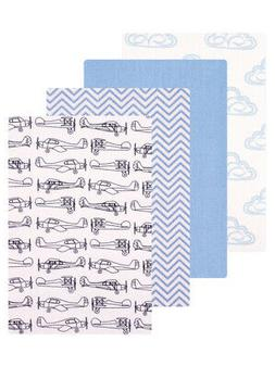 """Hudson Baby """"Planes"""" 4-Pack Receiving Blankets"""
