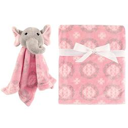 Hudson Baby Plush And Security Blanket Set Girly With Elepha