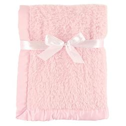Hudson Baby Sherpa Blanket with Satin Binding, Pink