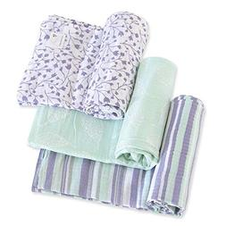 Burt's Bees Baby - Swaddles, Muslin Cotton Baby Blankets, 3-