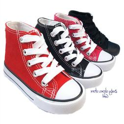 Toddler boys girls sneakers canvas tennis high top shoes 8,9