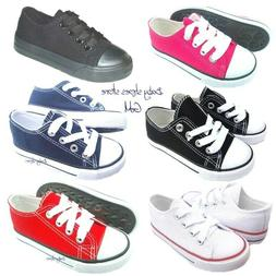 Toddler kids boys girls low top canvas tennis shoes 7-10 new