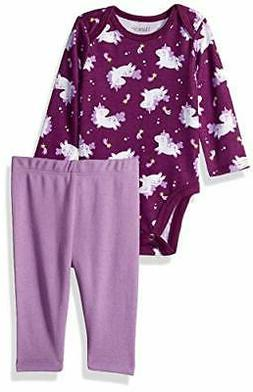 Hanes Ultimate Baby Flexy 2 Piece Set (Pant with Long, Purpl
