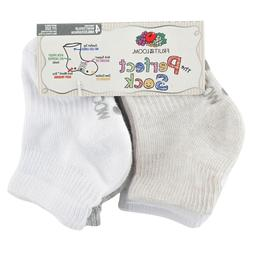 Fruit of the Loom Unisex Baby's Stay-On Ankle Perfect Socks,