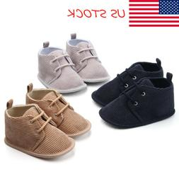USA Baby Boys Infants Lace Up Crib Shoes Toddler Ankel Boots