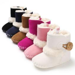 USA Baby Girl Boy Snow Boots Winter Half Boots Infant Kids N