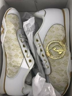 Baby Phat White & Gold shoes, Women's size 5.5