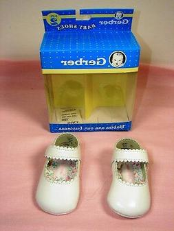 Gerber White Mary Jane Infant Baby Faux Leather Soft Sole Sh